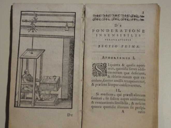 Sanctorius Sanctorius.De statica medicina; The Hague, Adrian Vlacq, 1657.